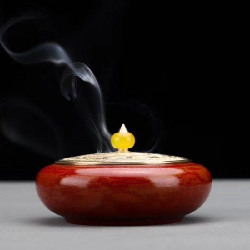 大红禅心宣德炉