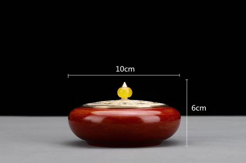 大红禅心宣德炉-尺寸图