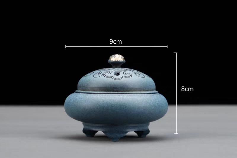 珀绿祥云三足香炉-尺寸图
