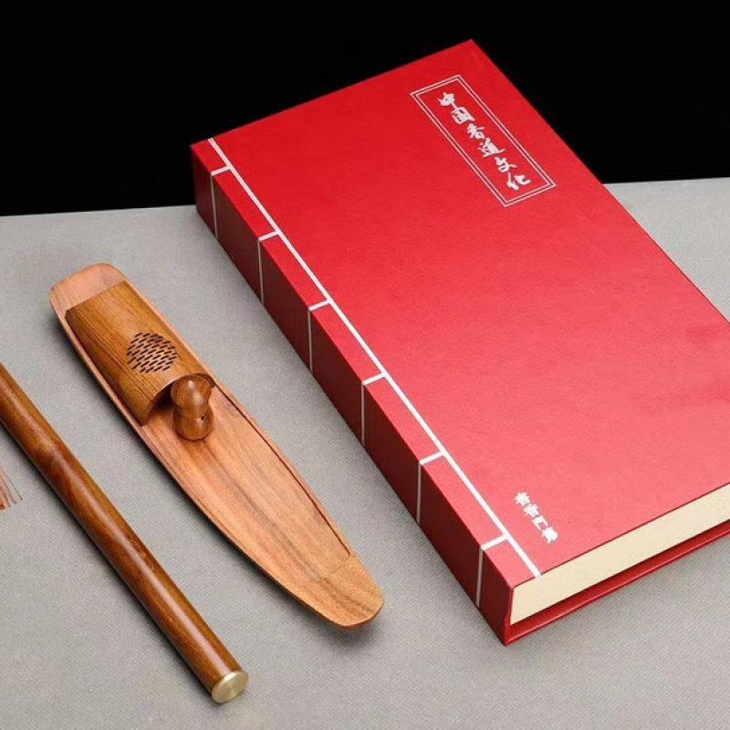 香礼:船型钓翁香插实木香炉